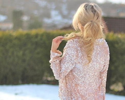 Sparkling sparkle blazer sequins