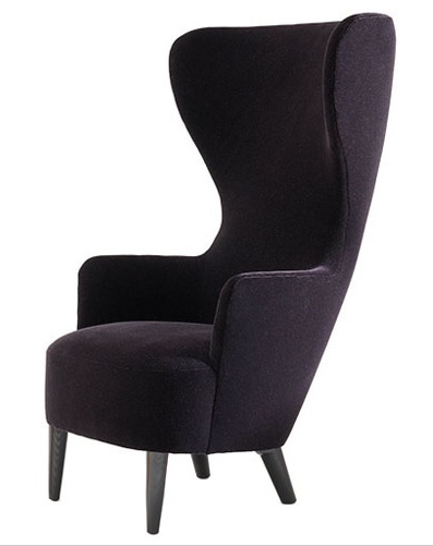 Beautiful winged chair cozy purple