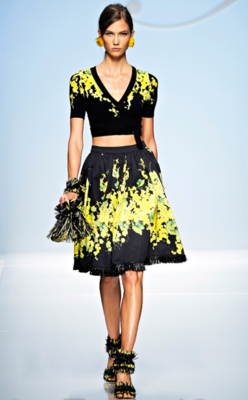 Bare midriff Spring 2012 trend ideas outfit inspiration how to wear