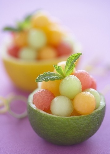 Fruit salad presentation idea