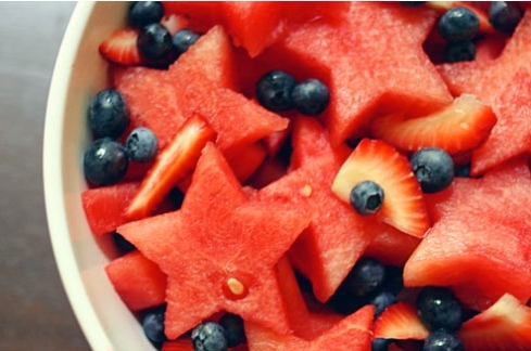 Fruit salad food healthy watermelon blueberry