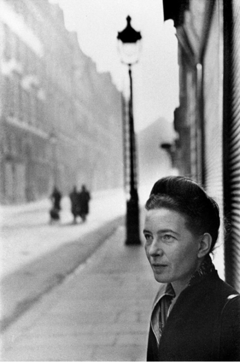 Henri Cartier-Bresson photography Simone de Beauvoir black and white