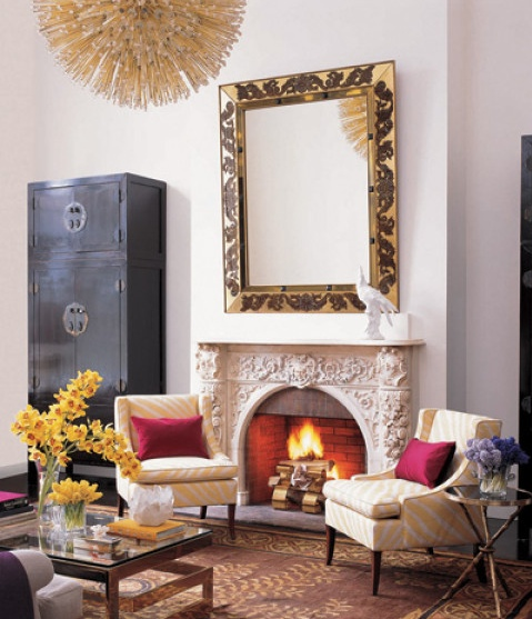 Contemporary mantel white ornate idea interior decor