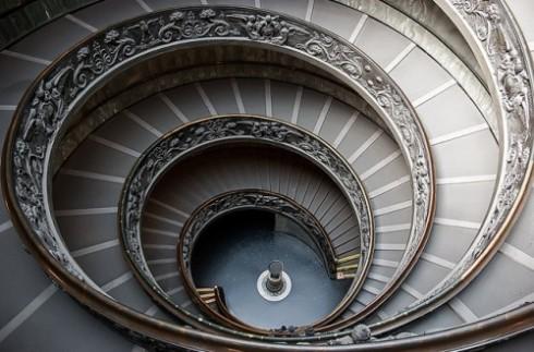 Musei Vaticani spiral staircase