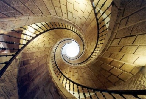 Museo do Pobo Galego spiral staircase