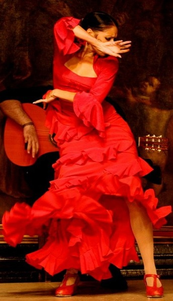 Flamenco dancer red passion