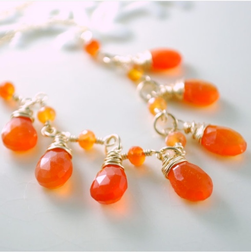 Tangerine tango Pantone color of the year outfit ideas inspiration jewelry