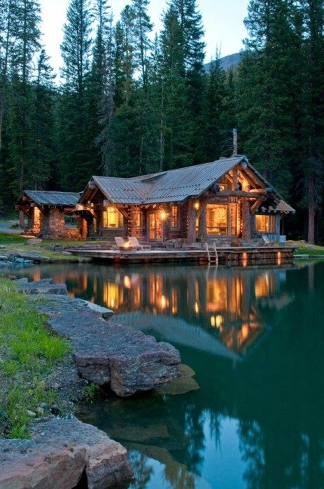 Mountain house wood lake eco