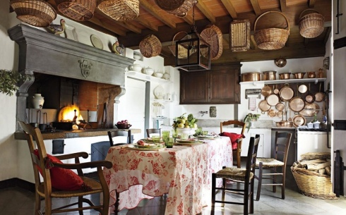 Baskets rustic kitchen decor interiors design