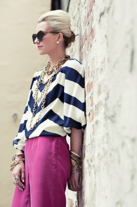Chevron concept fashion style top blouse