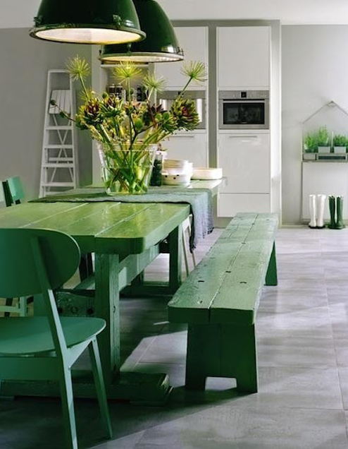 Green concept style fashion decor interiors inspiration