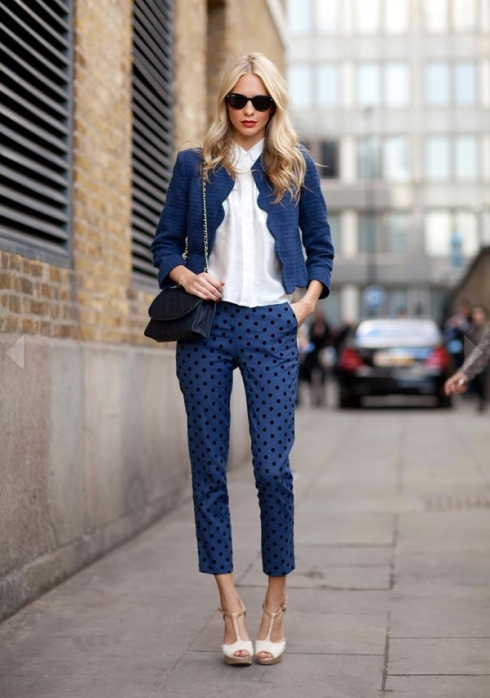 Polka dots fashion style hoe to wear ideas