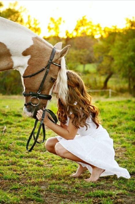 Horse friendship humans heartwarming children dog rabbit boy girl woman