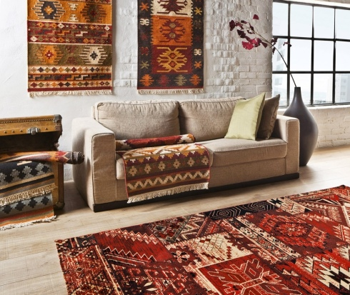 Kilim Oriental carpet design interiors style interior decor