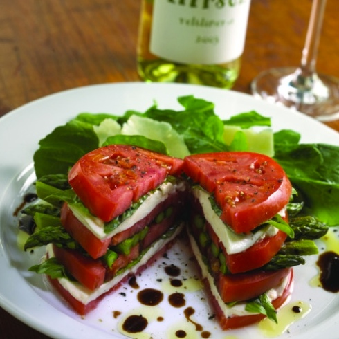 lunch ideas inspiration caprese tomato basil asparagus sandwich