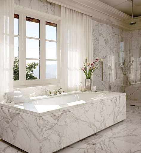 Marble tub interiors design ideas inspiration bathroom
