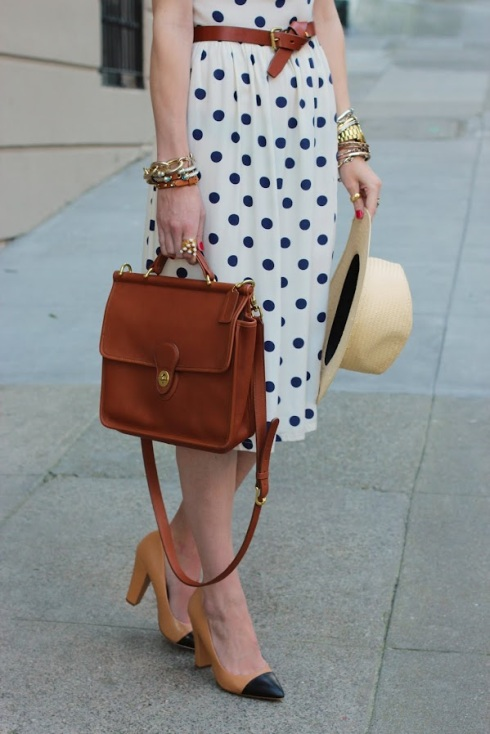 Polka dots fashion style how to wear outfit inspiration ideas