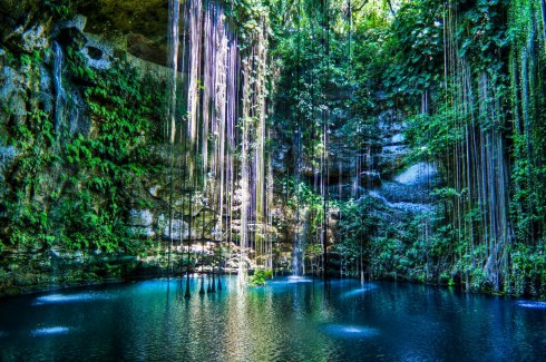 cenote, sink hole, ik kil, Mexico, nature, beautiful places,