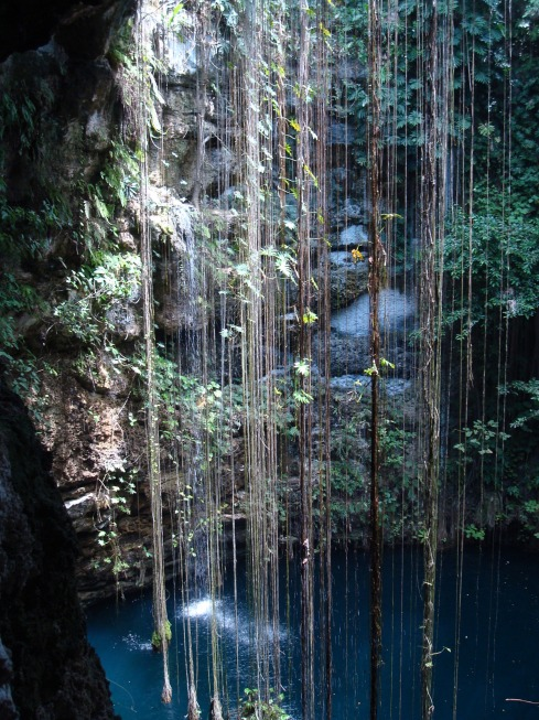 cenote, sink hole, ik kil, Mexico, nature, beautiful places, Zaci,