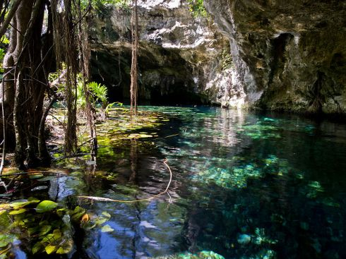 cenote, sink hole, ik kil, Mexico, nature, beautiful places, Gran Cenote