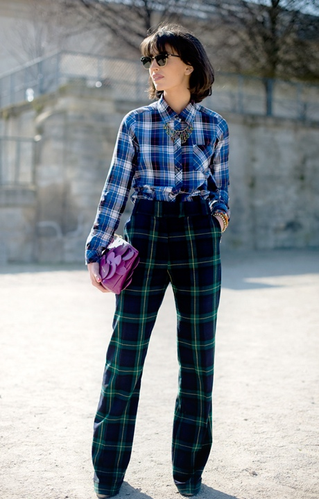 Tartan plaid fashion style how to wear ideas inspiration