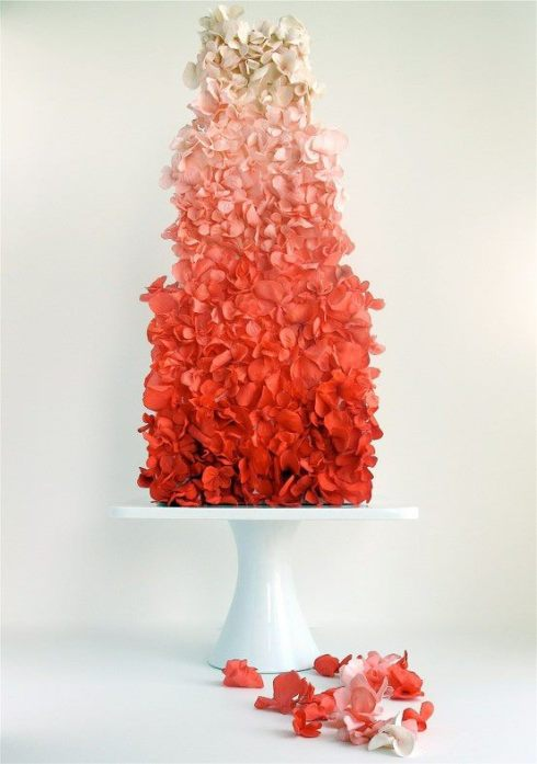 ombre fashion style cake design interiors ideas inspiration